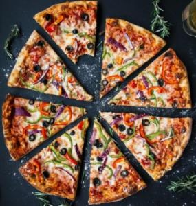 Parts de pizza maison