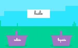 Image du jeu : Dissocier les liquides et les solides - Cliquez pour ouvrir le jeu