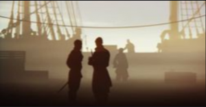 Hommes sur le pont d'un navire