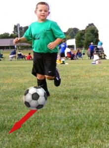 Illustration : se déplacer avec un ballon.