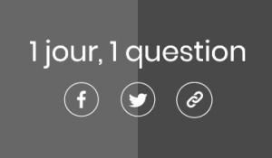 Capture d'écran page d'accueil - 1 jour, 1 question